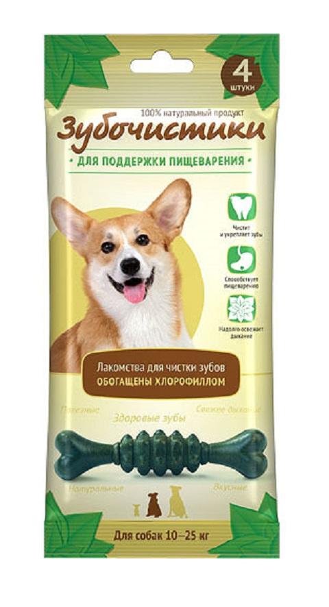 Лакомство зубочистики для собак средних пород для зубов с хлорофиллом (4 шт)