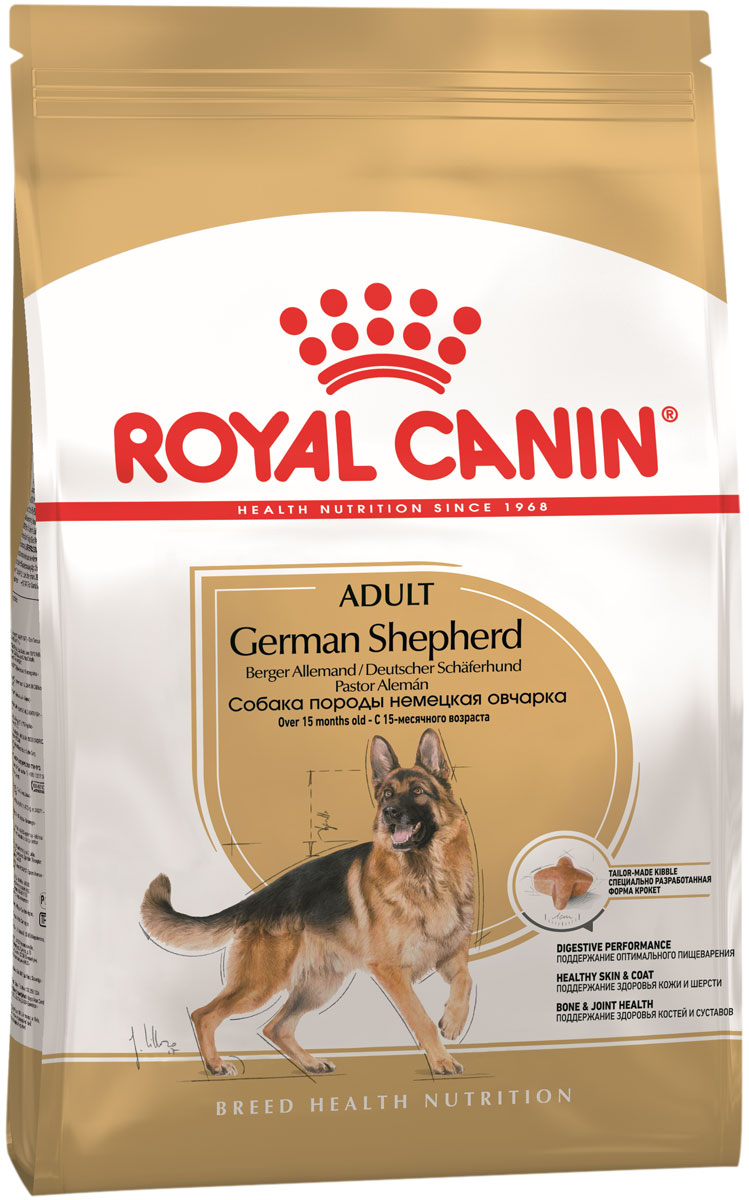 Купить со скидкой Royal Canin German Shepherd Adult для взрослых собак немецкая овчарка (11 + 11 кг)