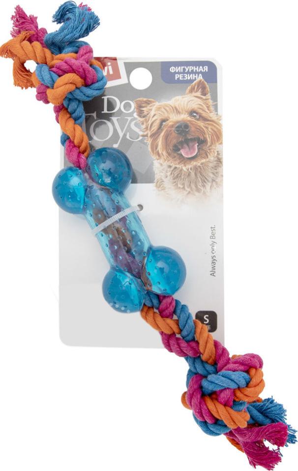 Игрушка для собак GiGwi Косточка на веревке маленькая 26 см (1 шт)